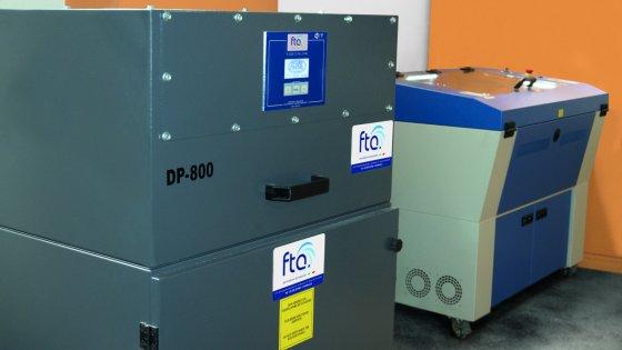 Impianto taglio laser con aspiratore FTA